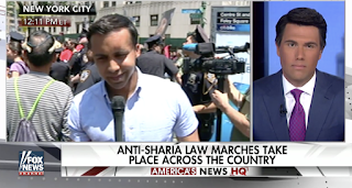 Anti-Sharia law march and counter protest take place in NYC