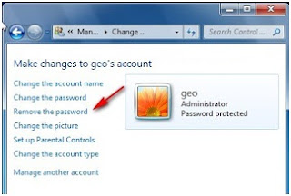 Cara menghilangkan kotak login (password logon) screen di windows 7