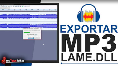 guardar o exportar MP3 con audacity