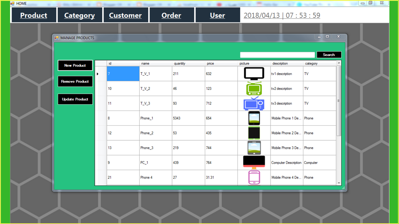 Pid for inventory managment system