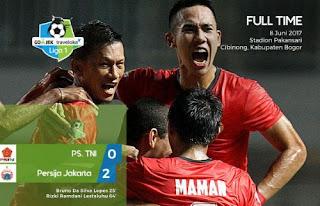 Persija Jakarta Menang 2-0 atas PS TNI
