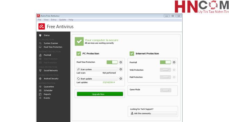 Top 5 phần mềm diệt virus miễn phí mà HNCOM khuyên dùng 5