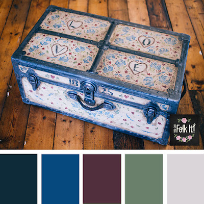 Vintage inspired colour palette characterised by rich reds, deep blues and soft greens