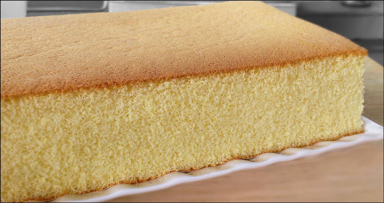 Honey Castella Cake Recipe