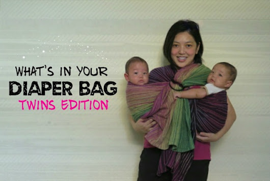 What's in your Diaper Bag? 4 Months Twins Edition