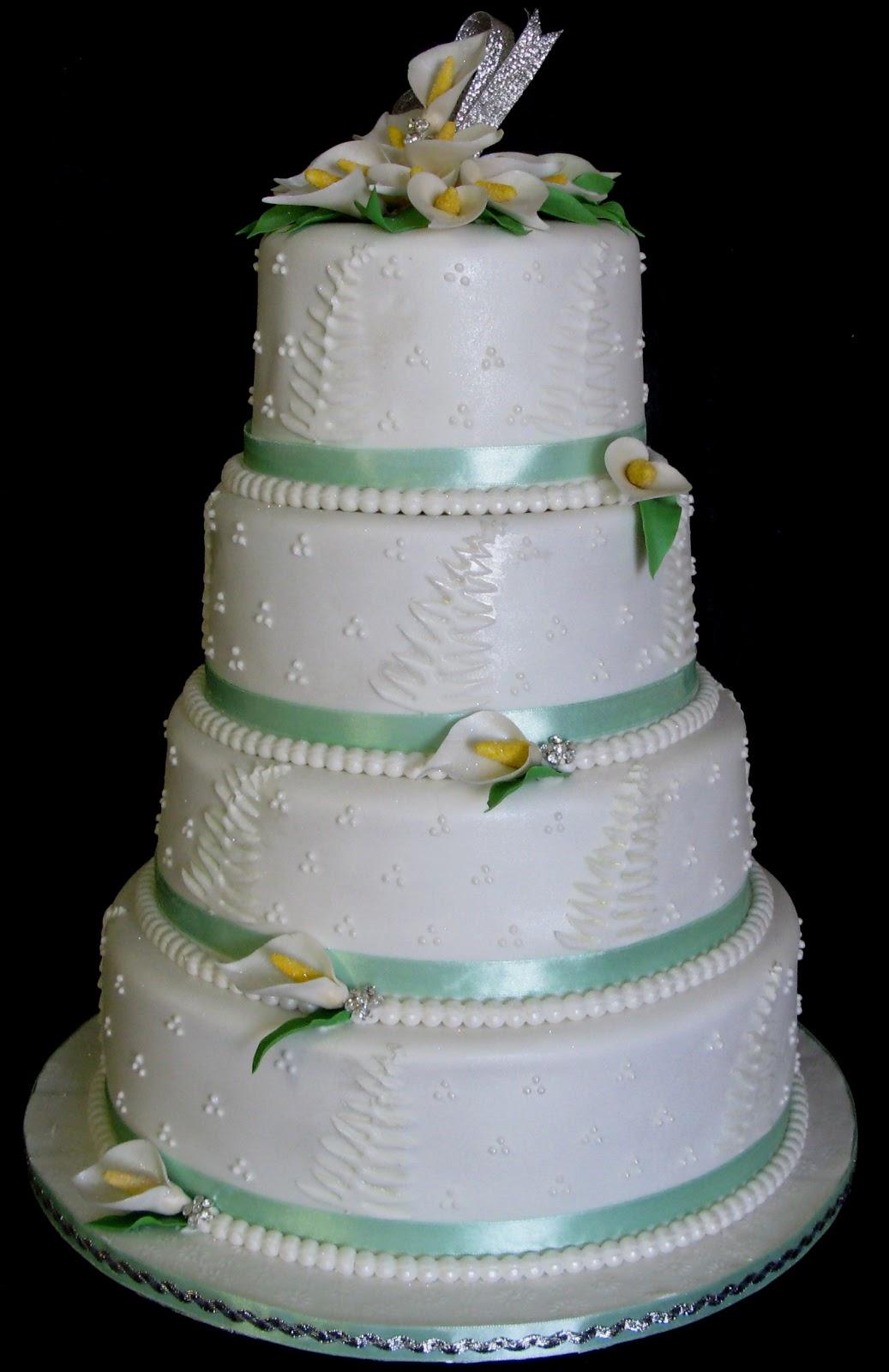 Sugarcraft By Soni Four Tier Wedding Cake Arum Lilies