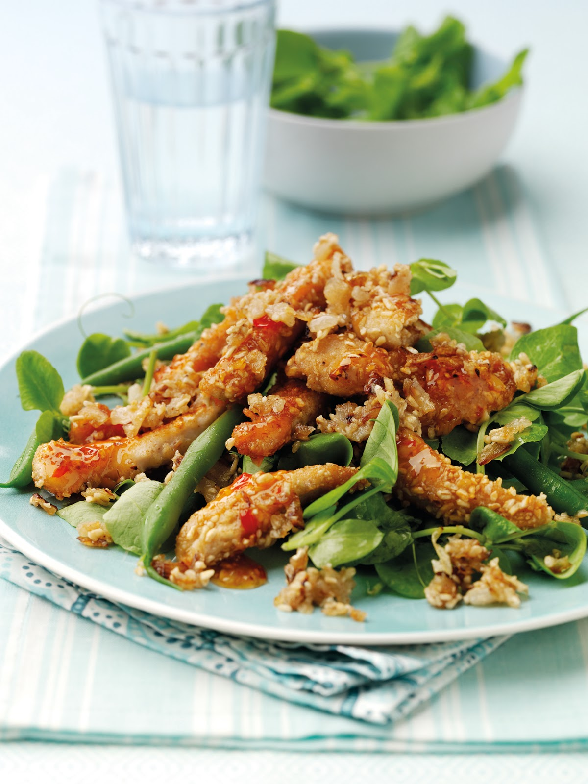 How To Make Warm Sweet Chilli Chicken Salad with Onion Oatmeal