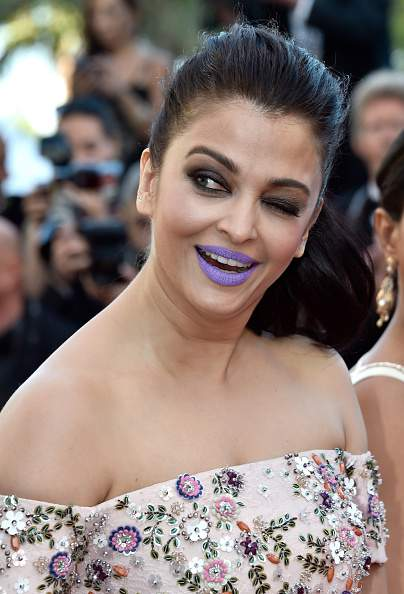 Aishwarya Rai Purple Lips At Cannes