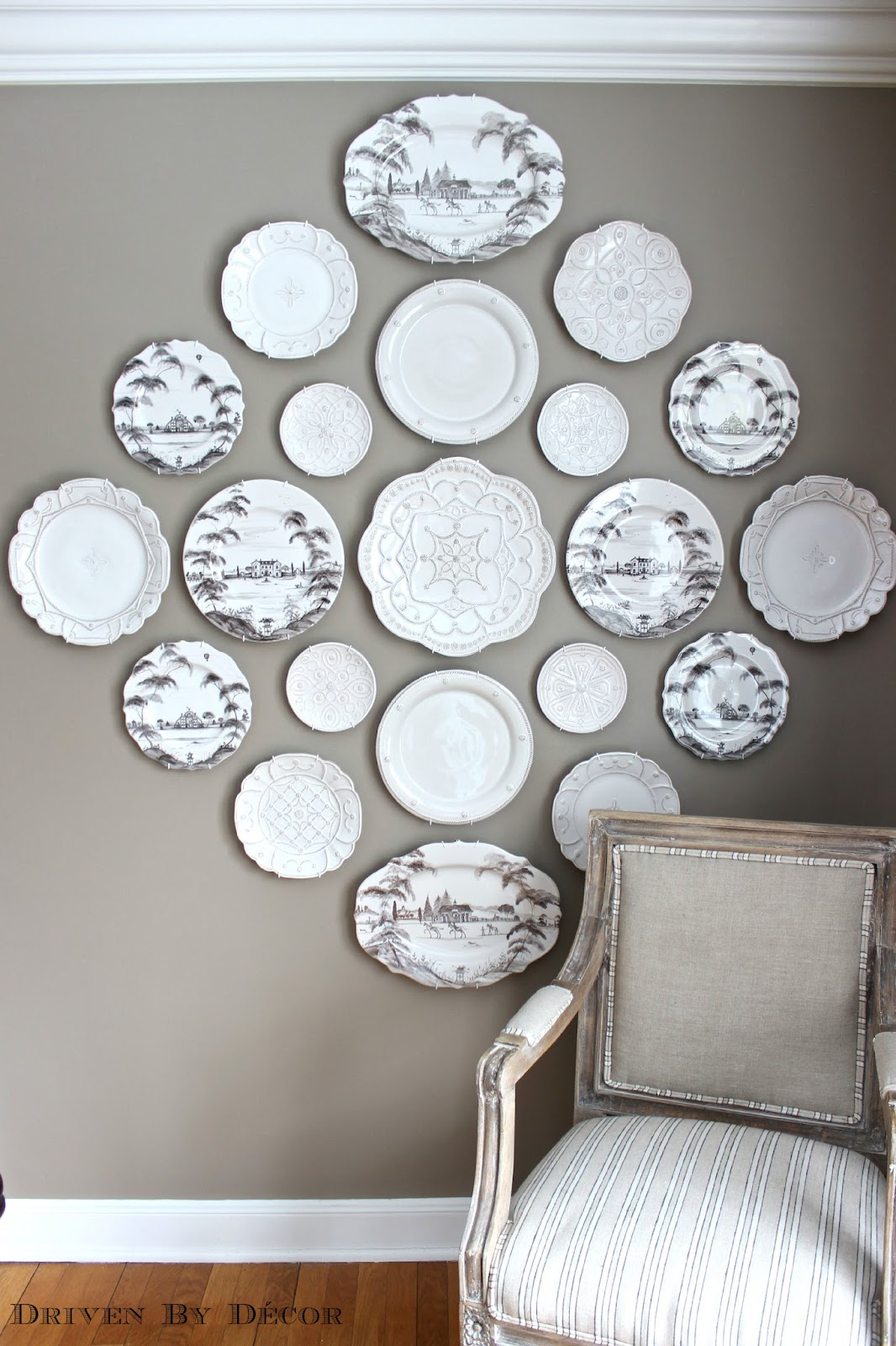 The Easy How-to for Hanging Plates on the Wall! | Driven ...