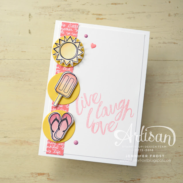 #TGIFc72, Sketch Challenge, Day at the Beach, Layering Love, Stampin' Up!, Papercraft by Jennifer Frost
