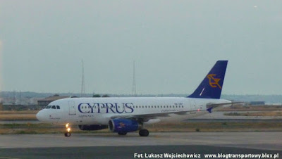 Airbus A319-132 nr 5B-DBP linii Cyprus Airways z Cypru