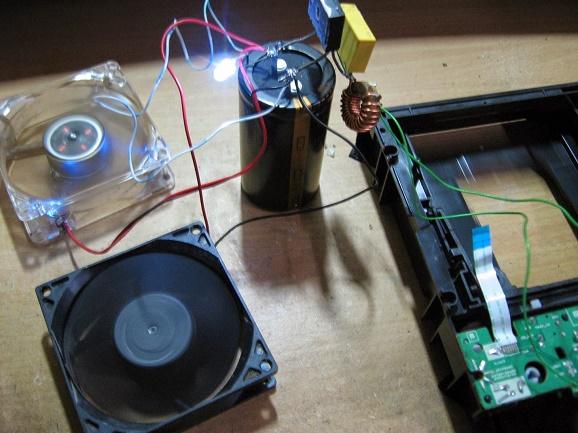 Free energi magnet motor, dari mekanik bekas DVD Komputer, 2015
