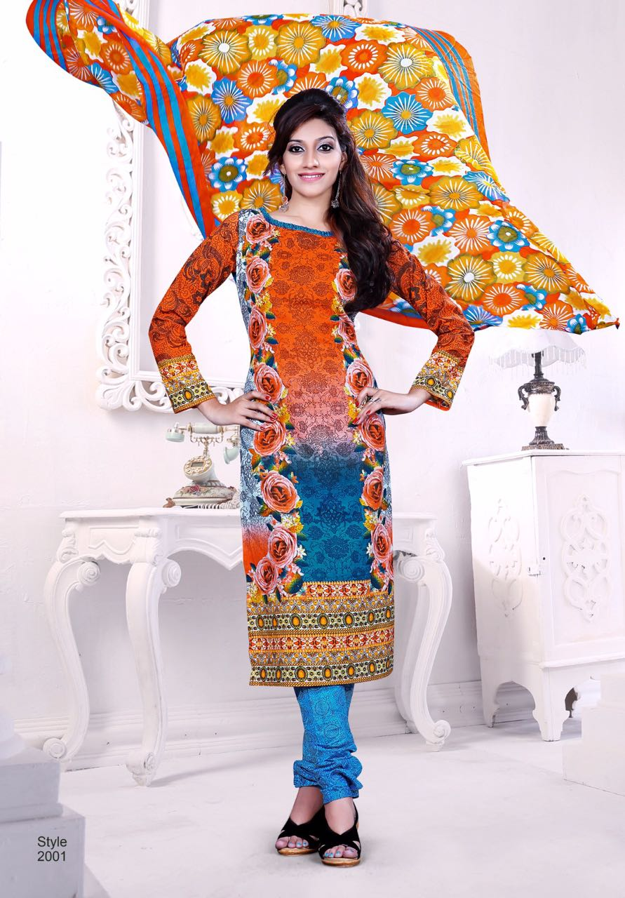 Manjula Vol-10- Very Beautiful Colors Of Semi Lawn Cotton Dress Material
