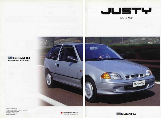 Subaru Justy II, 2001-2003, 4WD