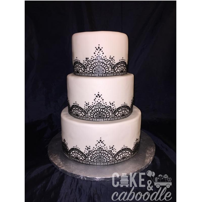 Black Lace Wedding Cake Cake And Caboodle