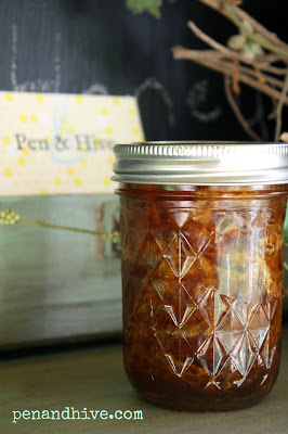 jar of honey with comb