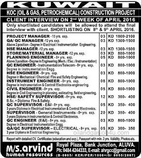 Oil and Gas Job vacancies in Kuwait
