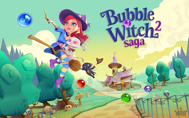 Bubble Witch 2 Saga v1.55.4 Apk Mod [Vidas y movimientos ilimitados]