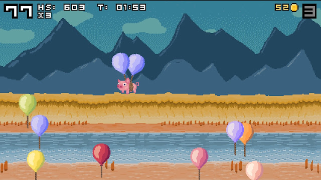 Screenshot of Balloon Popping Pigs