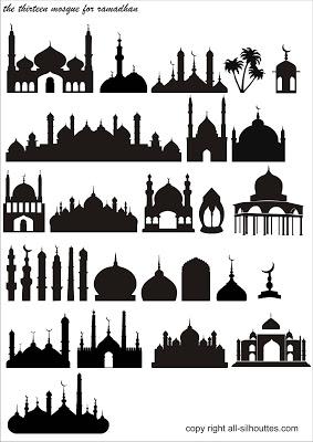 Vektor Masjid format CDR