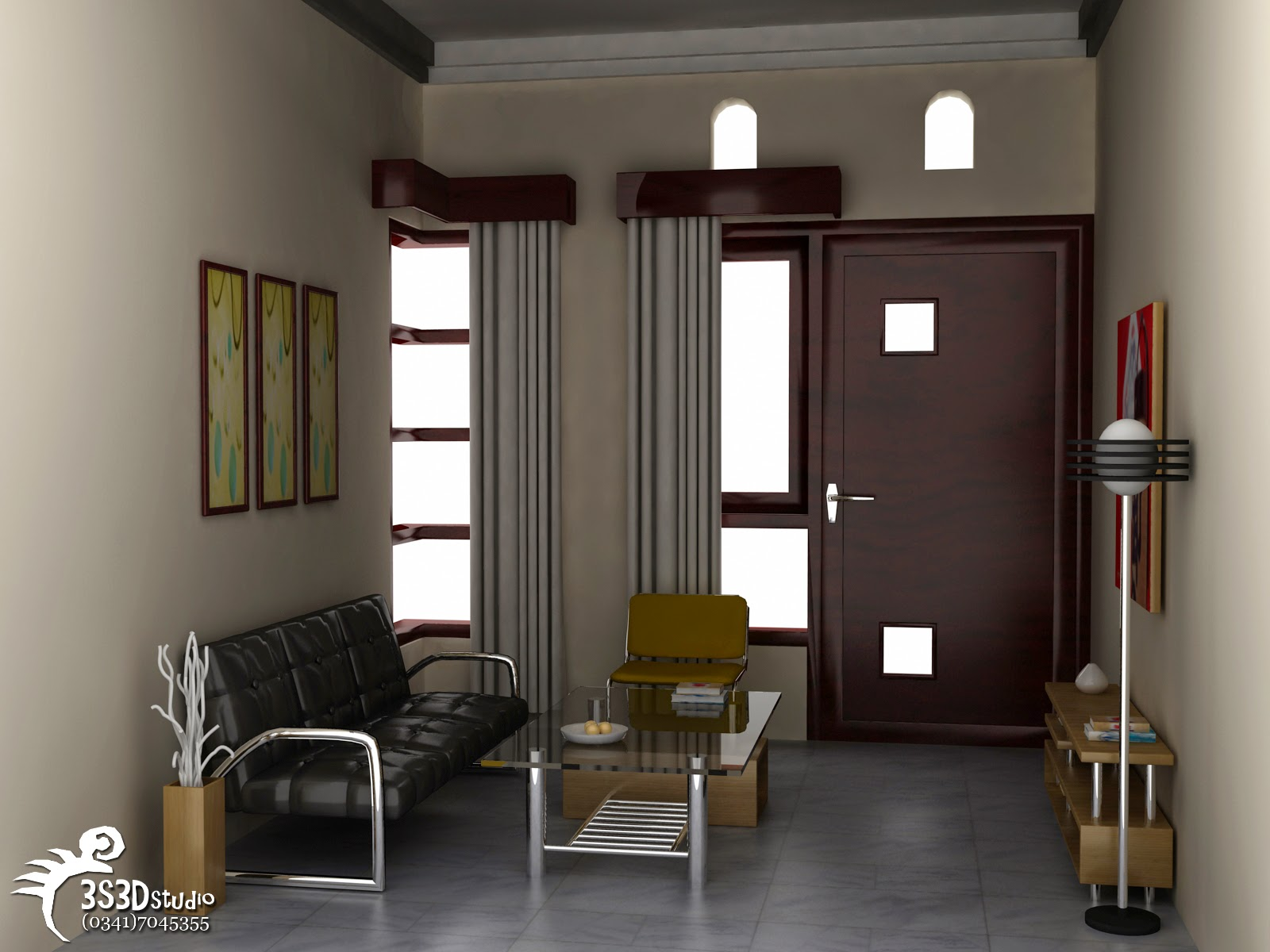 Desain Ruang Tamu Rumah Btn Wallpaper Dinding