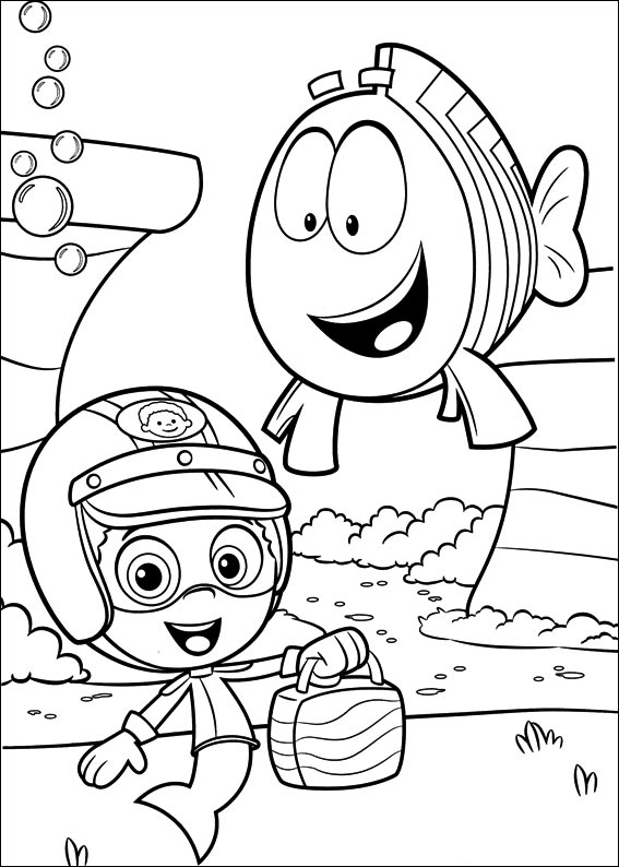 Coloring pages of bubbles ~ Bubble Guppies coloring pages - Coloring Pages