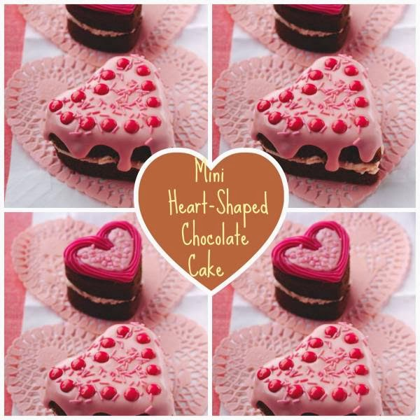 Mini Heart-Shaped Chocolate Cake