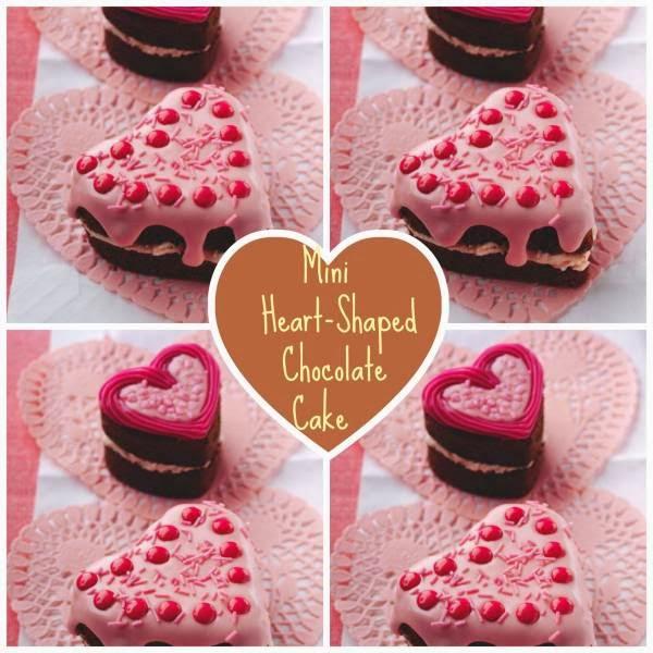 Mini Heart-Shaped Chocolate Cake
