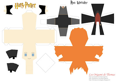 Template de Ron Weasley en papercraft