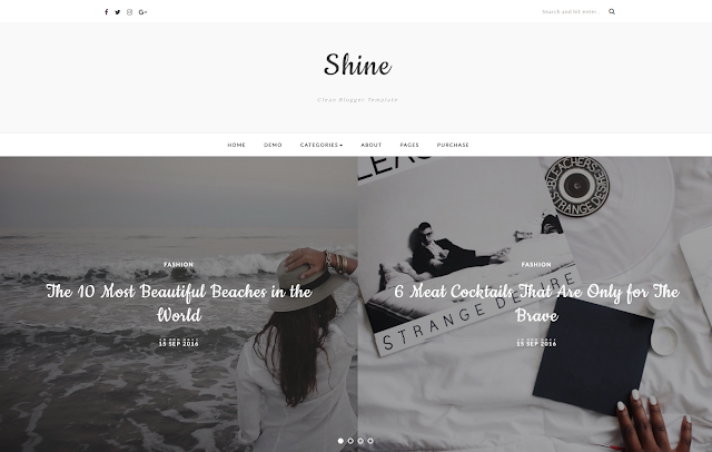 Shine-blogger-template