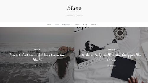 Shine Blogger Template