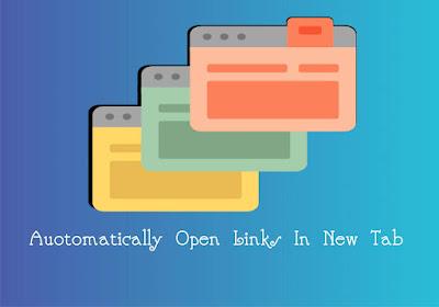 Tutorial Membuat Link Blog Terbuka Otomatis di Tab Baru