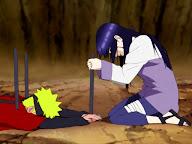 Hinata salva a Naruto vs Pain