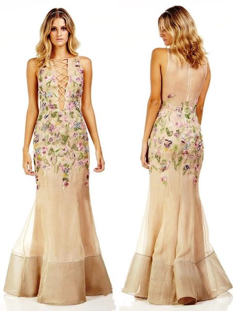 vestido de efsta bordado floral