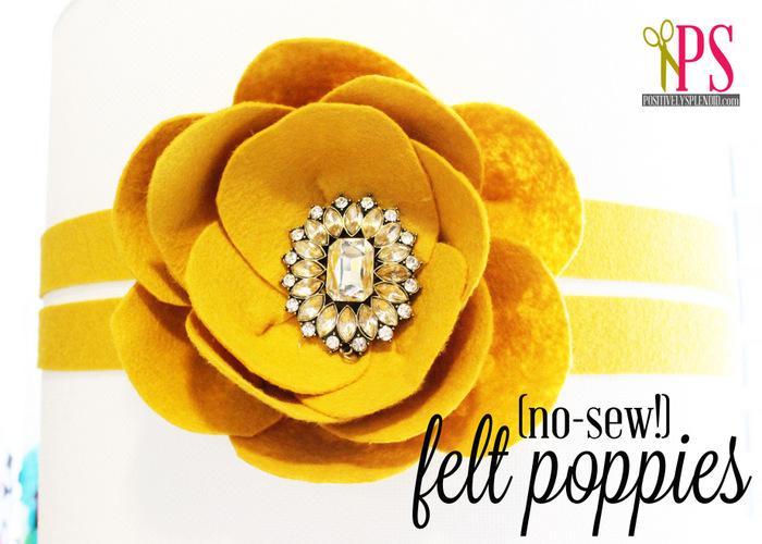 {No-Sew} Felt Poppies