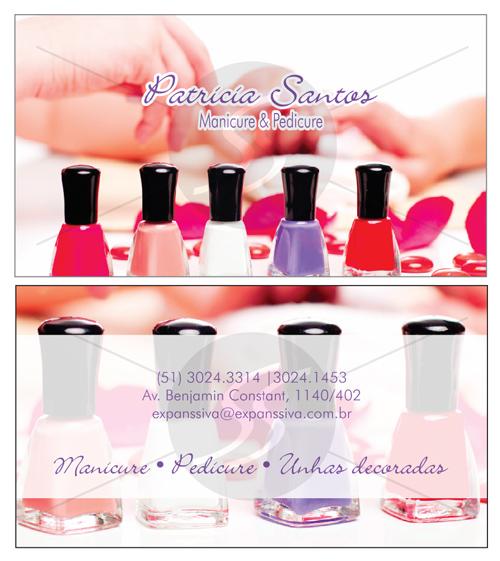 M2391 cartoes de visita manicure - Cartões de Visita para Manicure e Pedicure