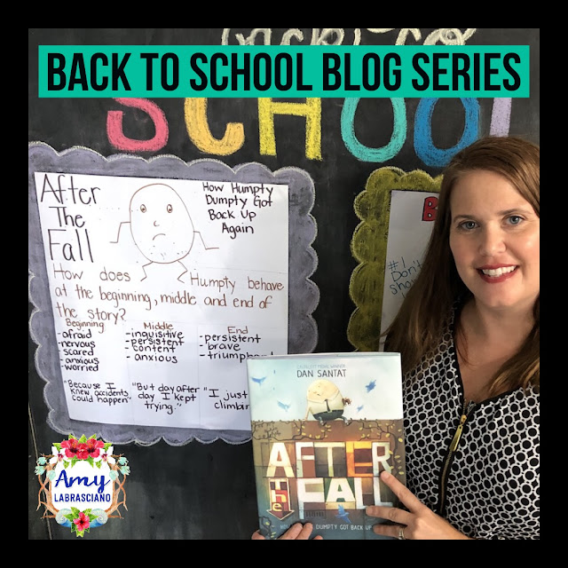 Click here to find ideas for anxiety and perseverance in the classroom.  Included are ideas and  an anchor chart for the very engaging book After The Fall.  Get your back to school plans ready.   Perfect for elementary classrooms and homeschool children.  {kindergarten, first, second, k, 1st, 2nd}