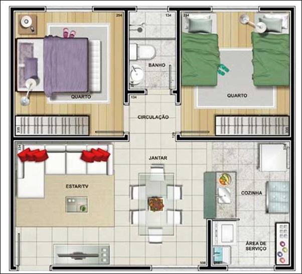 planta casa cozinha sala juntos