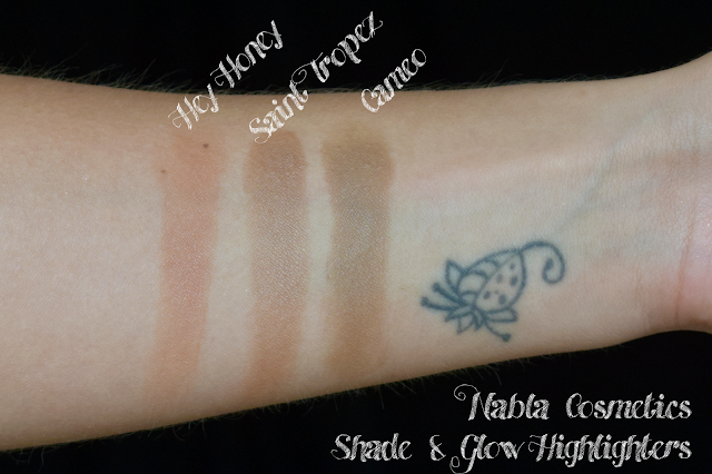 nabla shade & glow comparison swatch