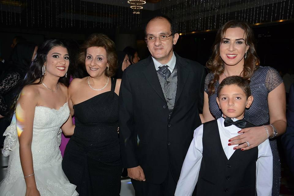 غادة جمعة خبيرة الاتيكيت تحتفل بزفاف نجلها بسام ماجد علي الآنسة مي محمود