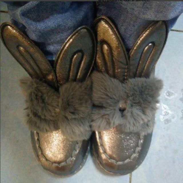 Sapatos de coelho