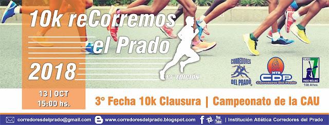 10k y 5k reCorremos el Prado (Montevideo, 13/oct/2018)