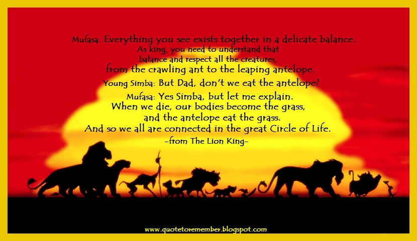Quote To Remember The Lion King 1994