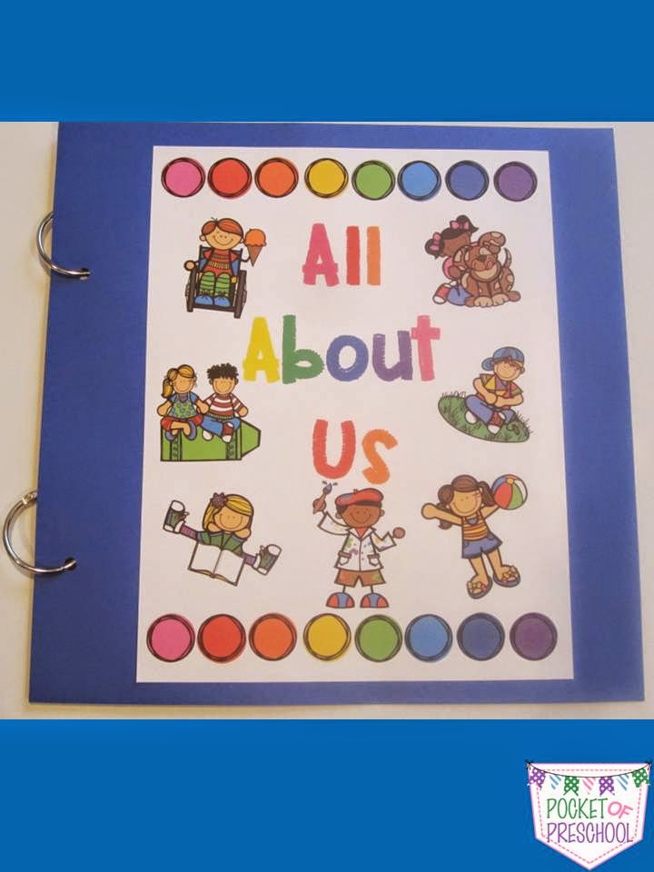 Book Cover Ideas For Preschool : All about me pocket of preschool