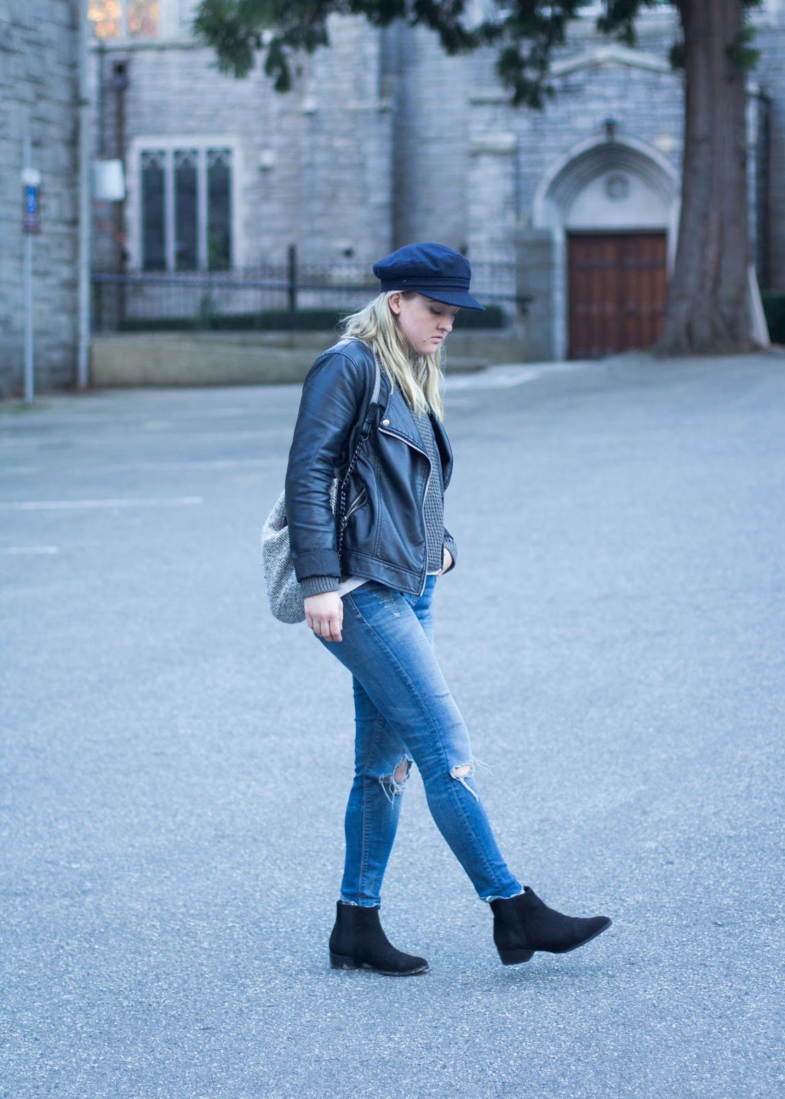 mixing materials - contrasting outfit - Fall style - Vancouver Fashion Blog