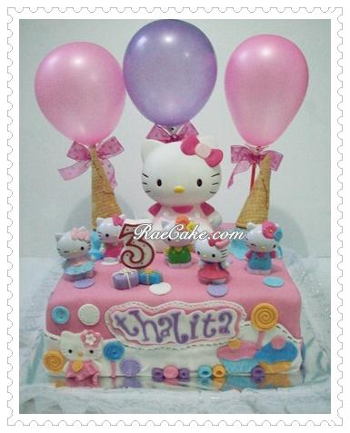 Hello Kitty Cake For Thalita Kue Ulang Tahun Birthday