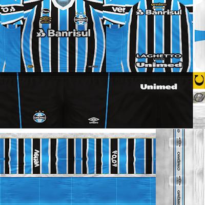 PES 6 Kits Grêmio FBPA Season 2018/2019 by FacaA/Ngel
