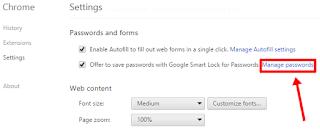 setting menage password