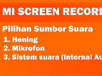 Download MI Screen Recorder Audio Internal Tanpa ROOT