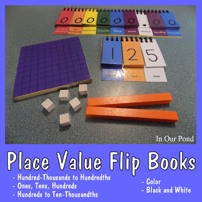 Free Place Value Flip Books from In Our Pond